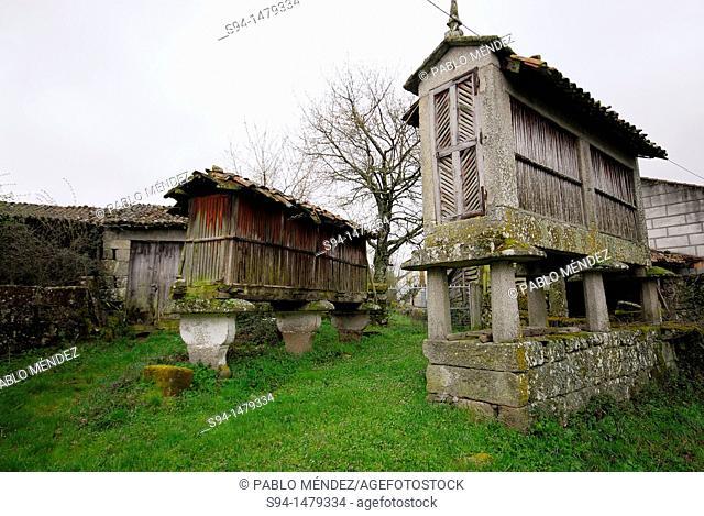 Two 'Horreo' in Nocelo, Orense, Spain