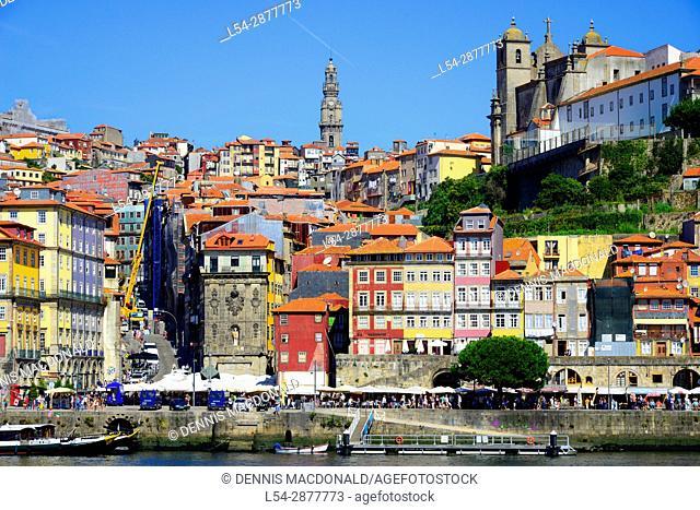 Porto Portugal Skyline Cityscape Tile Roofs Colorful