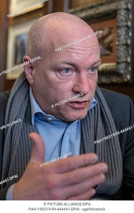 08 March 2019, Bavaria, Regensburg: Joachim Wolbergs (SPD), suspended Lord Mayor of Regensburg. Photo: Armin Weigel/dpa. - Regensburg/Bavaria/Germany