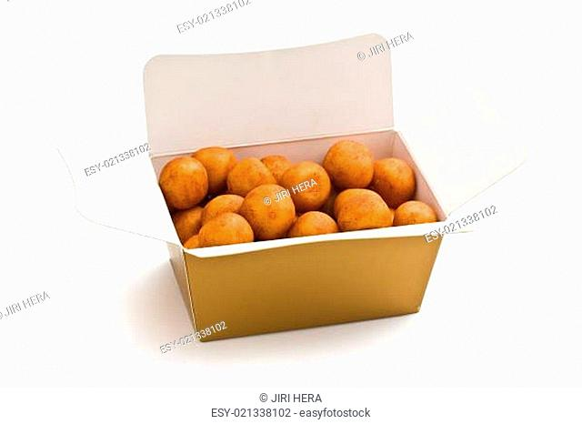marzipan balls in gift box