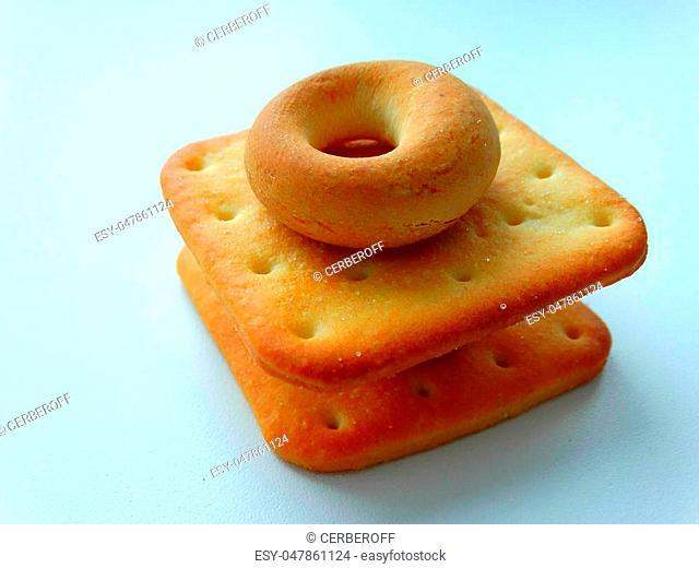 Fresh delicious bagels food baking biscuit nutrition breakfast