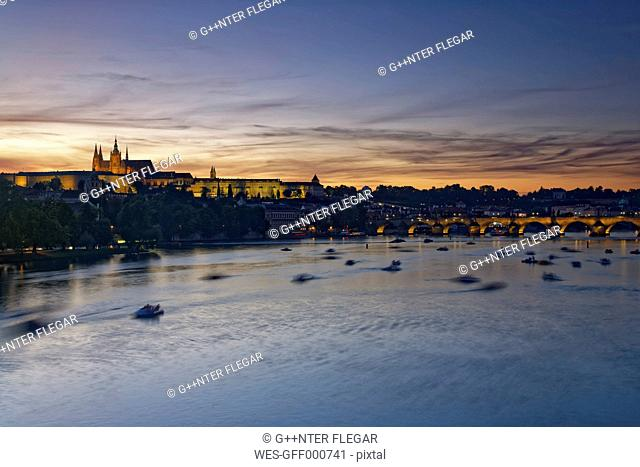 Czech Republic, Prague, Old town and Charles Bridge