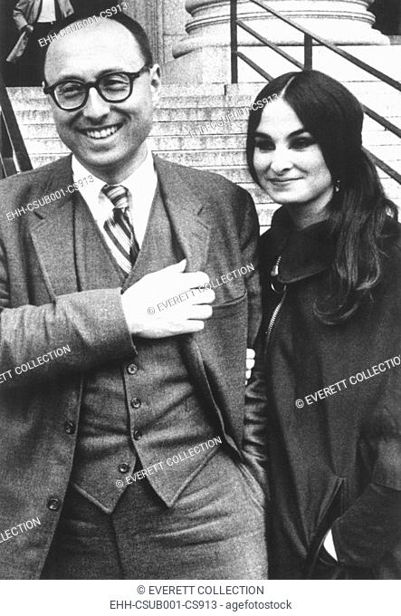 Magazine publisher Ralph Ginzburg and his wife, ca. May 1968. From 1968, to 1971, Ginsburg published 'Avant Garde', a magazine critical of American society and...