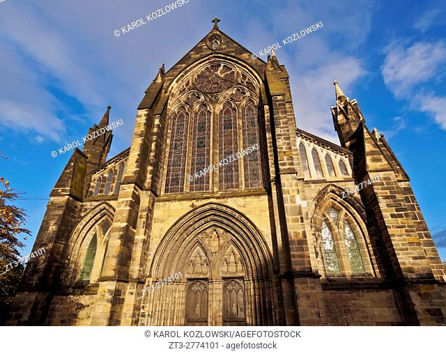 UK, Scotland, Lowlands, Glasgow, View of the The Cathedral of Saint Mungo