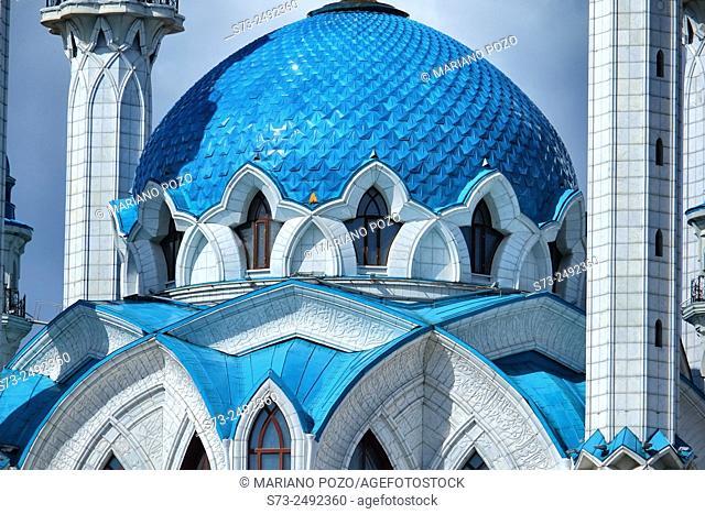 Kul Sharif mosque detail in Kazan Kremlin, Russia