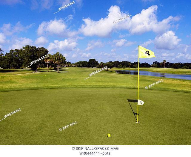Hole 4 on a Golf Course