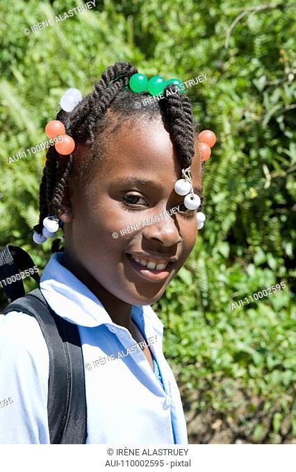 Dominican Republic - North Coast - Samana Peninsula - Schoolgirl