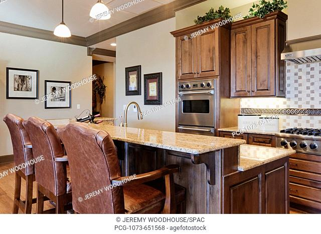 Kitchen Space With Eating Bar