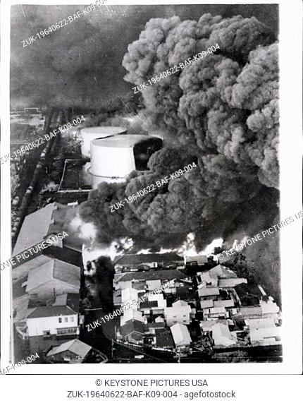 Jun. 22, 1964 - Japanese Earthquake Disaster: The city of Niigata was reduced to a blazing shambles by the earthquake which struck last Tuesday