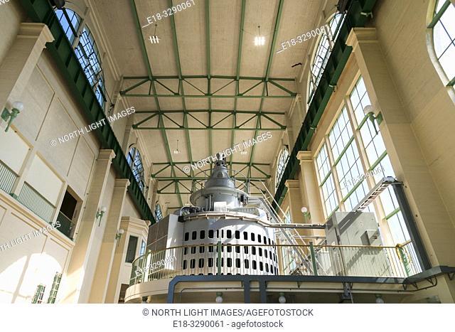 USA, WA, Olympic Penninsula. Cushman Number 2 Power Station. Built in 1930, its three 27,000 kilowatt generators provide 233 million kilowatt-hours annually to...