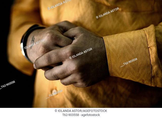 Hands linked  Male, Pakistan