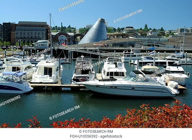 Tacoma, WA, Washington, Puget Sound, Thea Foss Waterway, downtown, Museum of Glass, marina
