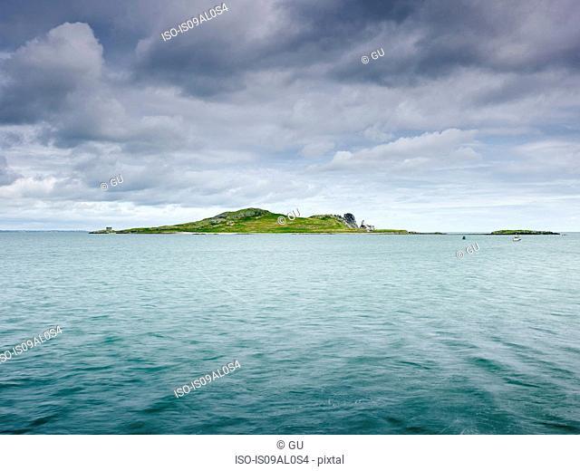 View of Irelands Eye, Dublin Bay, Howth, Republic of Ireland