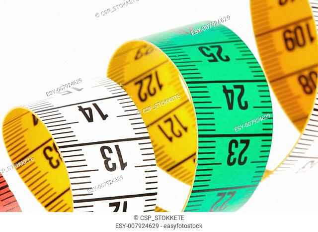 Measure tape, on white background