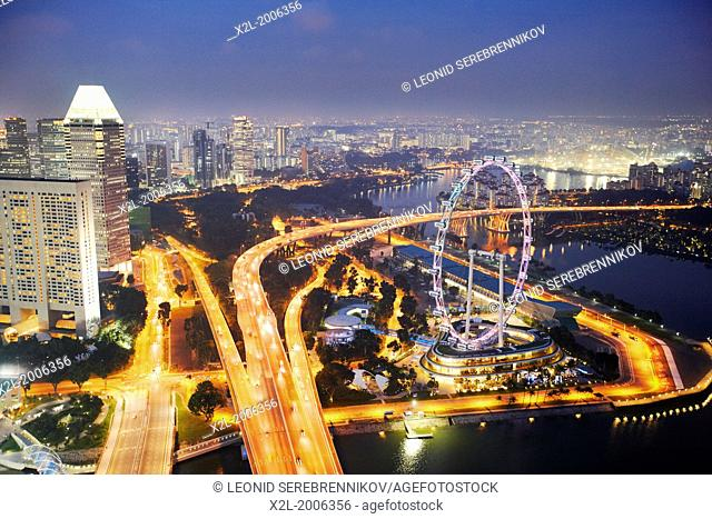 Singapore elevated view