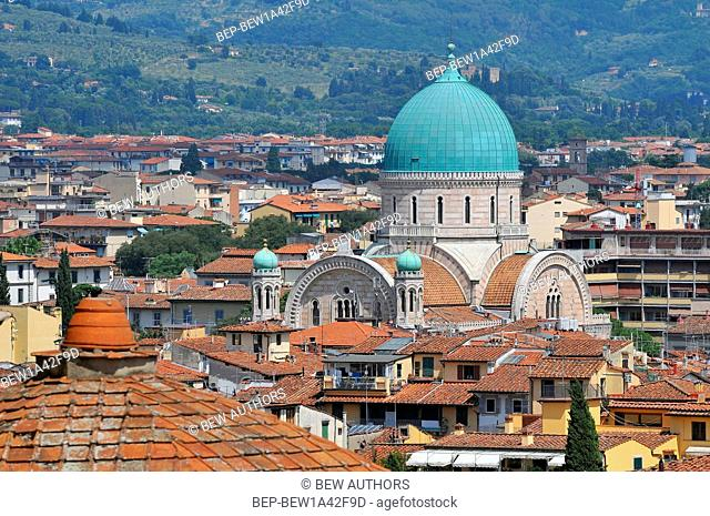 View of Florence with the Synagogue in the center Florence Italy
