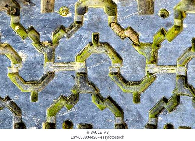 Tire rubber protector tread closeup old grunge texture detail background