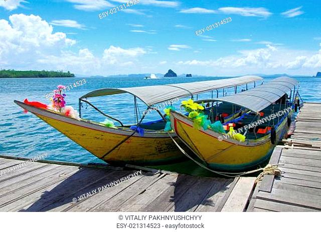 longtail boats, Andaman Sea