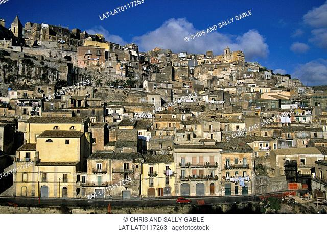 Ragusa is a historic city in Sicily. It is part of the Val Di Noto UNESCO world heritage site and a castle overlooks the lower town
