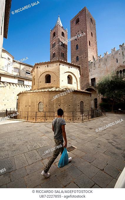 Italy, Liguria, Albenga, Baptistery
