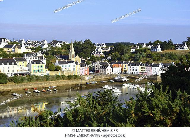 France, Morbihan, Belle Ile en Mer, Sauzon harbour