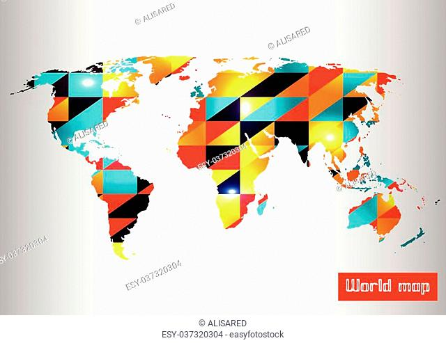 Abstract map pattern background. Vector illustration. EPS