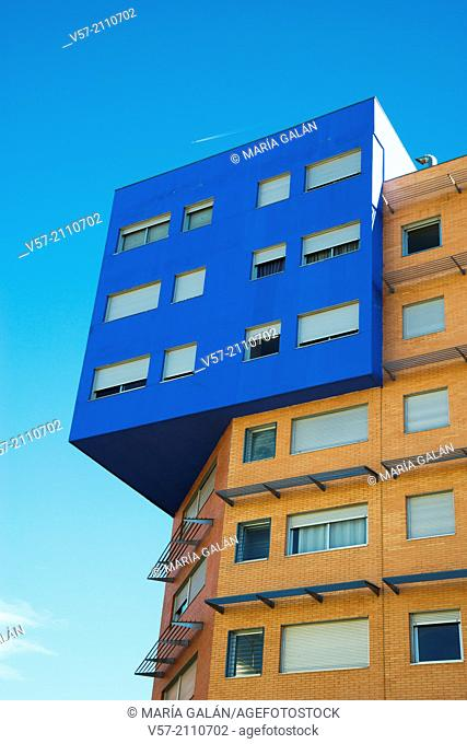 Modern building. Bulevar de la Naturaleza, Ensanche de Vallecas, madrid, Spain