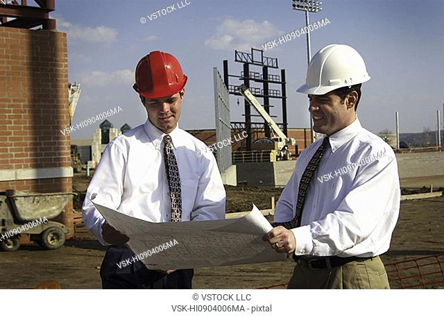 Construction managers on site