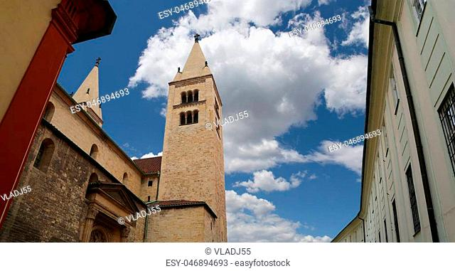Landmarks, in the Prague Castle complex, Czech Republic. Prague Castle is the most visited attraction in the city