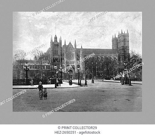 Westminster Abbey, London, c1900. Artist: FGO Stuart