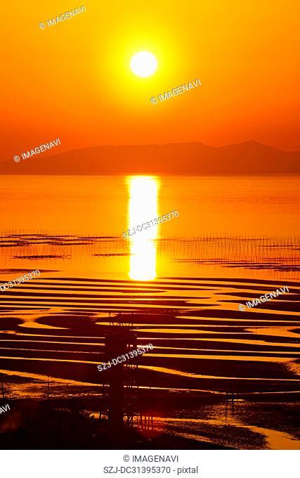 Ariake Sea sunset
