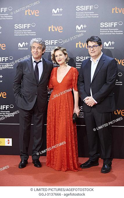 Ricardo Darin, Mercedes Moran, Juan Vera attended 'El amor menos pensado' Premiere during the 66th San Sebastian International Film Festival at Kursaal Palace...