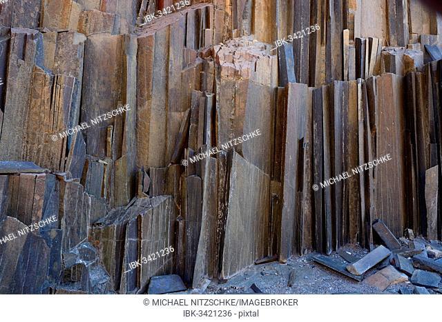 Basalt columns, so-called Organ Pipes, Twyfelfontein, Damaraland, Kunene Region, Namibia