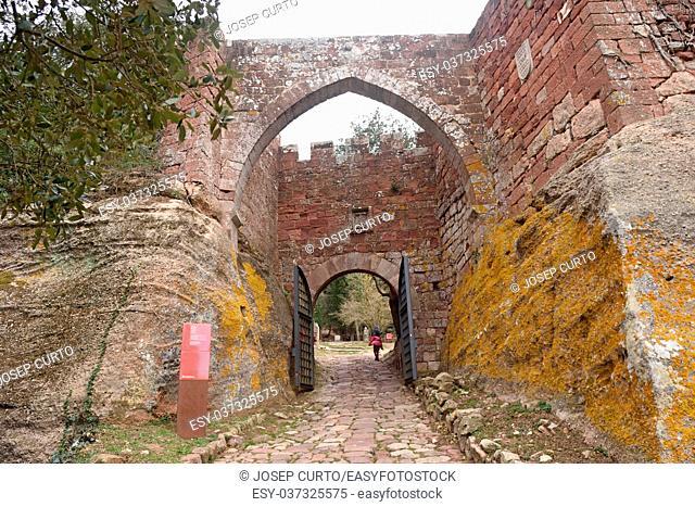 entrance of Monastery of Escolnarbou, Tarragona province, Catalonia, Spain