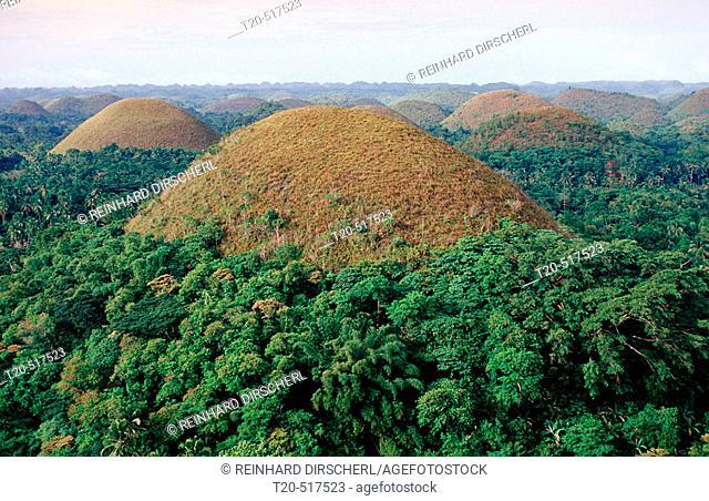 Chocolate Hills. Bohol, Philippines Island