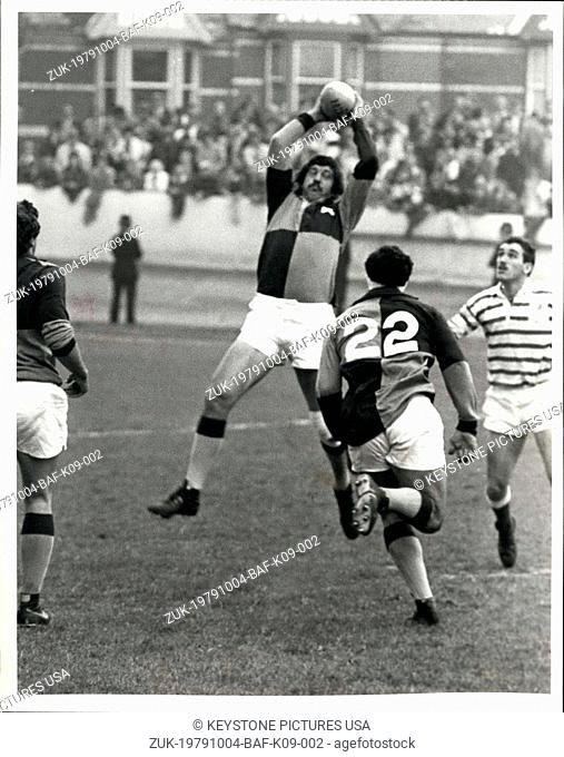 Oct. 04, 1979 - The South African Barbarians win first match: The South Africa Barbarians won two battles in their first match of the tour at Exeter yesterday