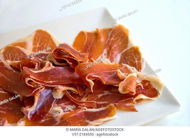 Iberian ham, close view