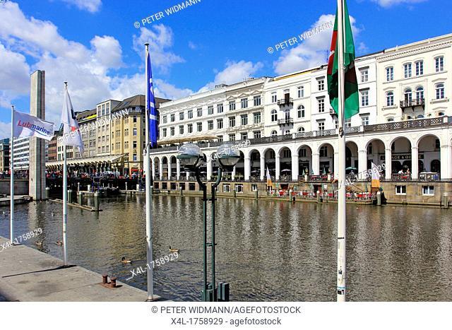 Germany, Hanseatic City Hamburg, Alsterarkaden