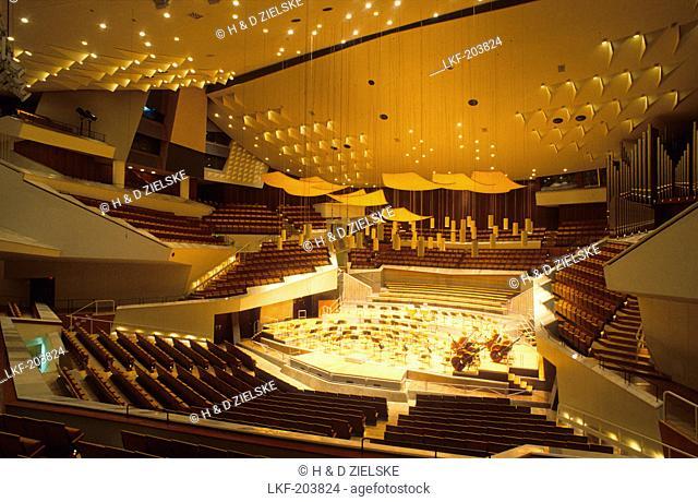 Europe, Germany, Berlin, interior view of the Berliner Philharmonie