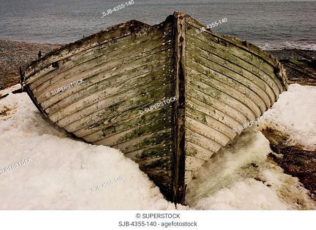 Old Whaling Boat on Half Moon Island