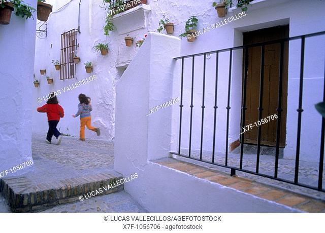Higinio Capote street,Arcos de la Frontera, Pueblos Blancos 'white towns', Cadiz province, Andalucia, Spain
