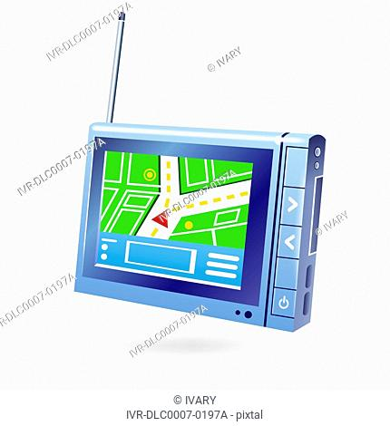 Illustration of GPS navigator
