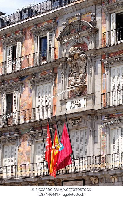 Spain, Madrid, Plaza Mayor, Casa de la Panadería