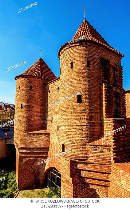 Poland, Masovian Voivodeship, Warsaw, Old Town, Barbican