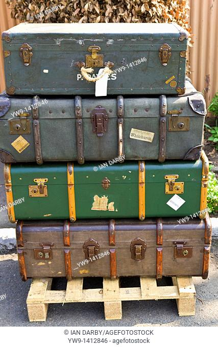 Old luggage on show at Severn Valley Steam Railway