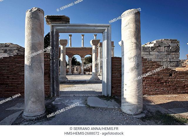 Turkey, Aegean Region, Izmir Province, Selcuk, Selçuk, Efes, Basilica of Saint John, listed as World Heritage by the UNESCO