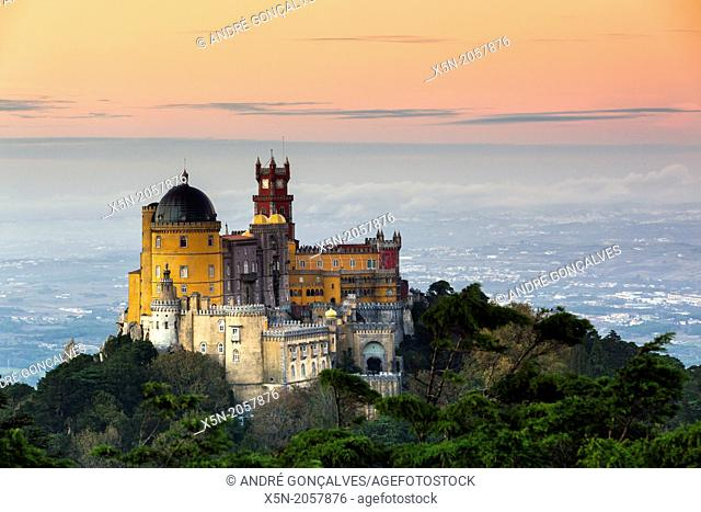 The Pena National Palace, Sintra, Portugal, Europe