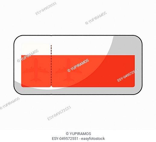 ticket flight isolated icon vector illustration design