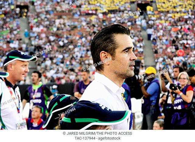 Colin Farrell attends the Special Olympics World Games Opening Ceremony at the Coliseum on July 25th, 2015 in Los Angeles, California