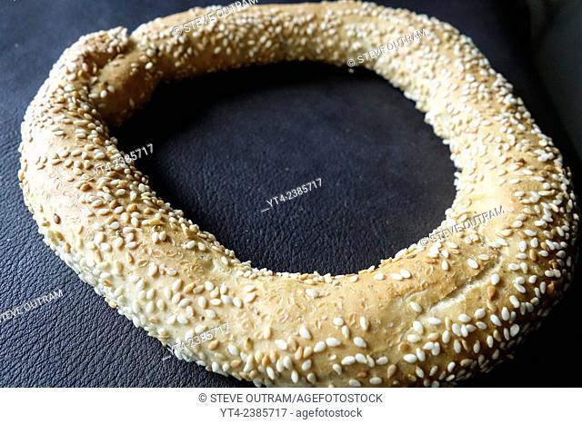 Fresh Koulouri Sweet Bread (Greek Sesame Bread Ring)